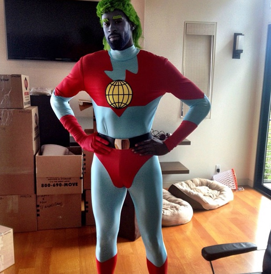 mico halili: deandre jordan goes to a costume party as captain