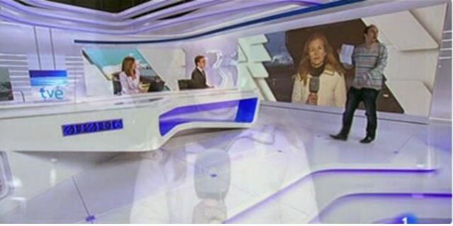 Carlos Díaz Fernández se coló en directo en el Telediario