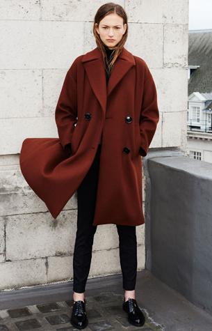 abrigo oversize de Zara mujer