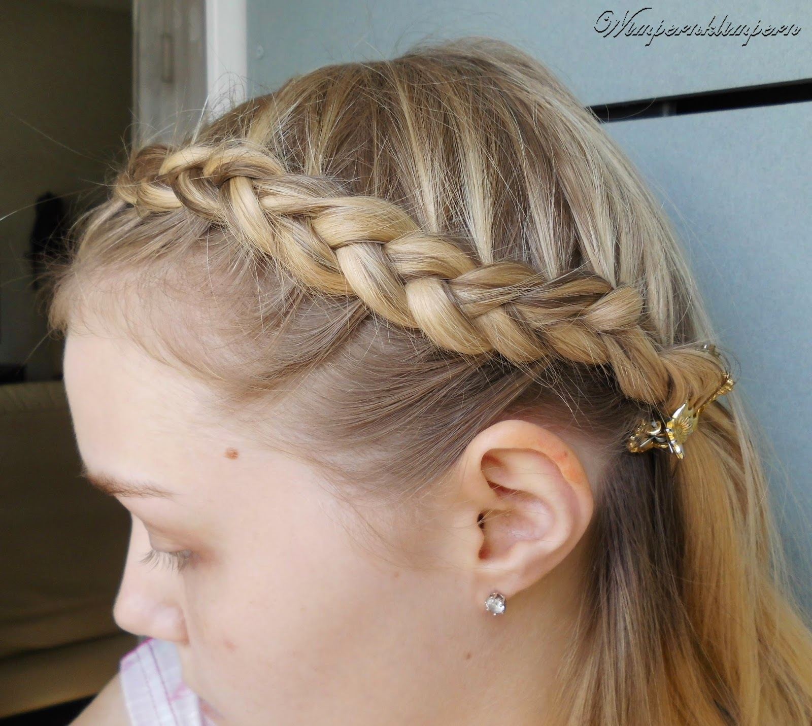 Oktoberfest Flechtfrisuren Dutch Braid Seite