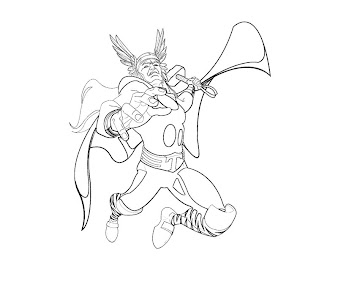 #1 Thor Coloring Page