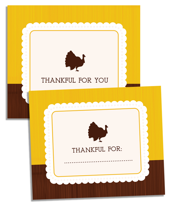 Slobbery image for thanksgiving place cards printable