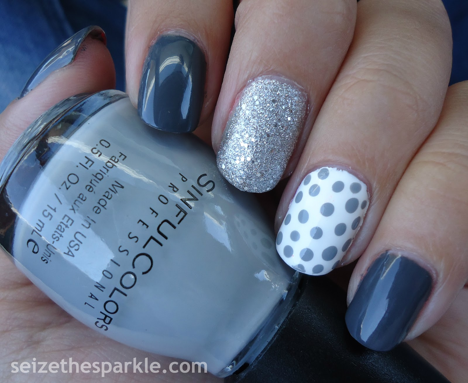 Glitter Polka Dot Nails