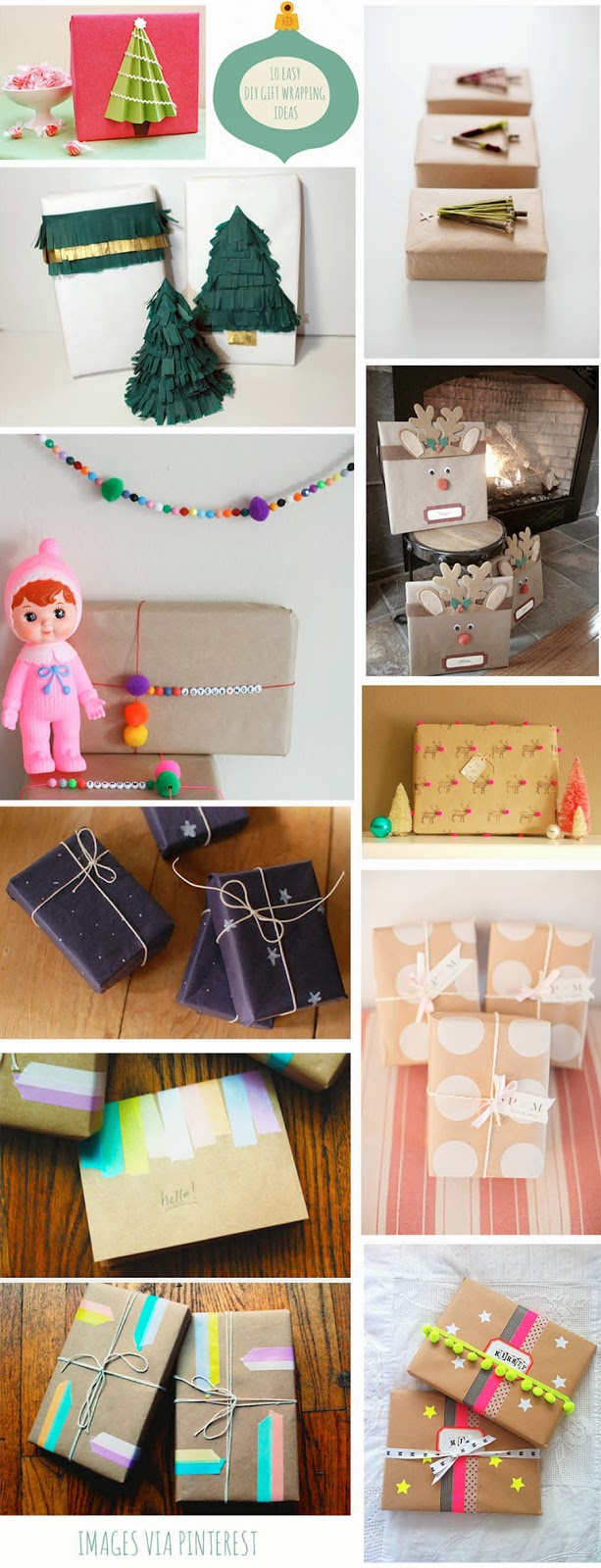 11 Best DIY Gift Wrap Ideas from Pinterest | We Are The Humans | A ...