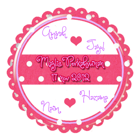 Pinky creative design sticker design for the wedding