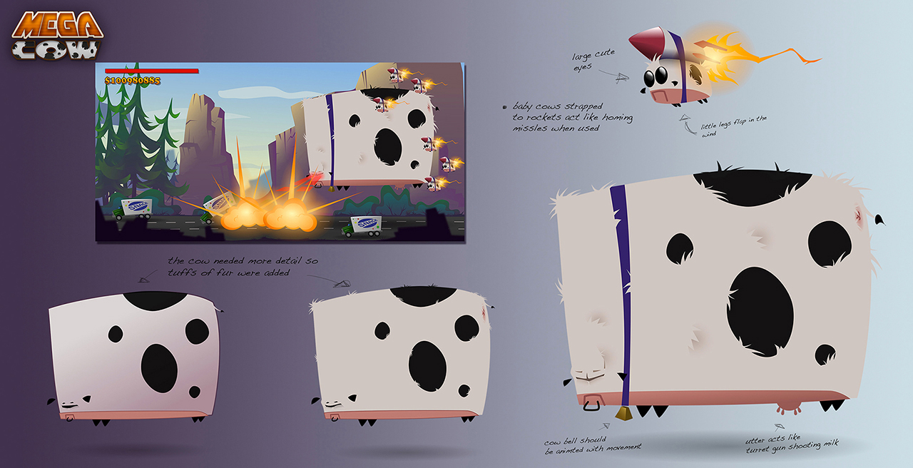 mega cow detail progression and game play notes