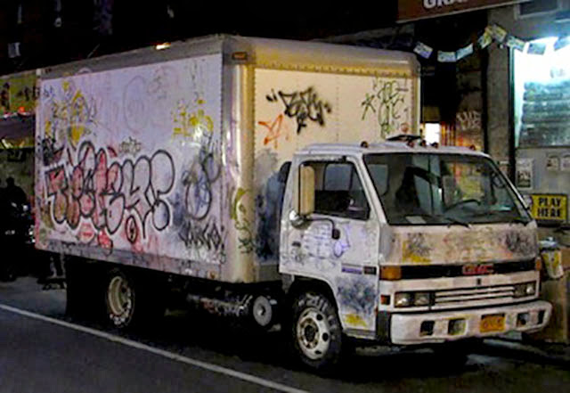 """All City"" Truck Installation By Banksy For Better Out Than In Exhibition In New York City. 3"