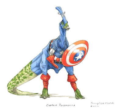 Capitan America Dinosaurio