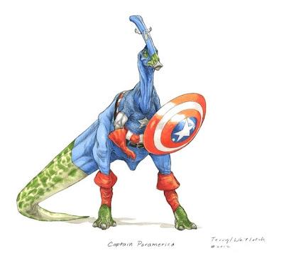 Capitan America Dinosaurio