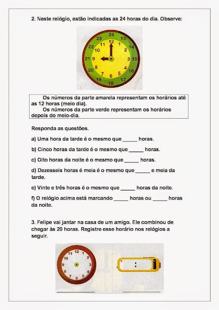 Atividades com horas