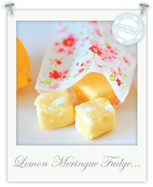 Hand made lemon meringue fudge