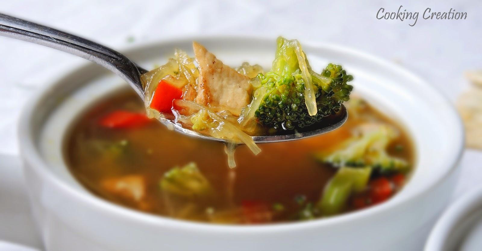 ... Creation: Spaghetti Squash, Chicken & Broccoli Soup with Cinnamon