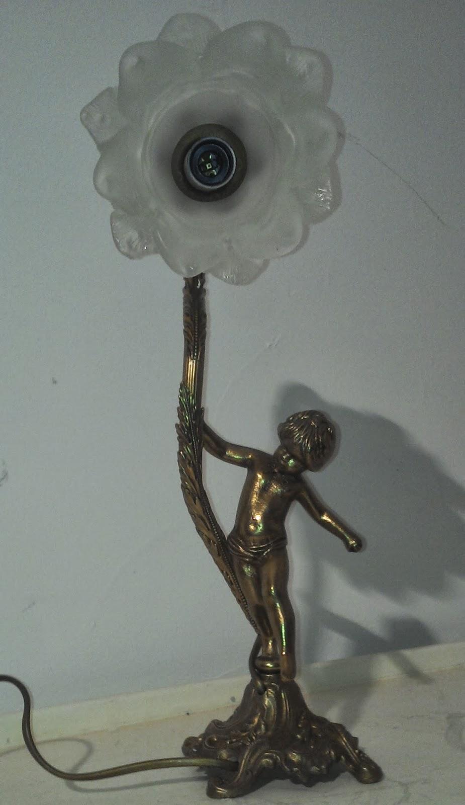 Ancienne lampe de chevet bronze for Lampes de chevet anciennes