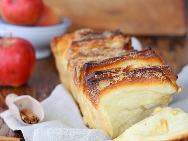 Pull apart bread alle mele, zenzero e cannella