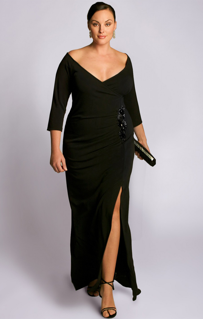 Long black dress size 4