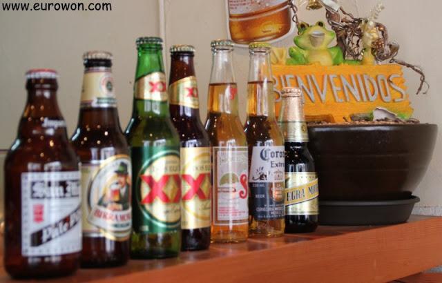 Cervezas en restaurante mexicano en Corea del Sur