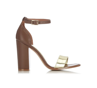 Wallis Brown and Metallic Block Heels