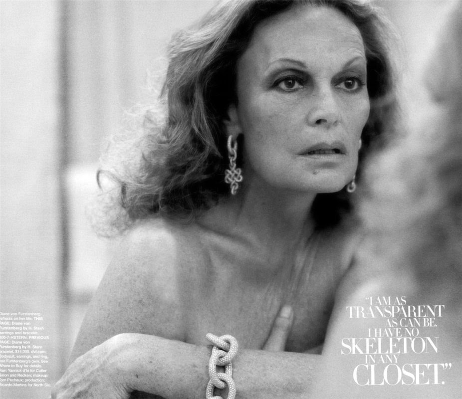 Diane von Furstenberg by Peter Lindbergh for Harper's Bazaar (October 2009) | Ses Rêveries