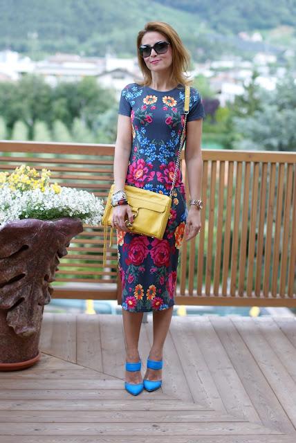 Rebecca Minkoff MAC clutch in yellow, Stefanel scarpe blu, Fashion and Cookies