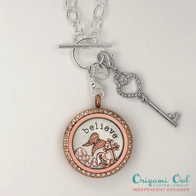 Origami Owl Living Lockets and Believe Plate with Charms -- lissa.origamiowl.com