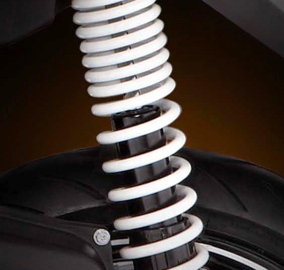 Shock breaker tipe twin tube lebar dan panjang