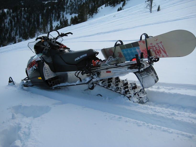 Back Country Snowboard Snowmobiling