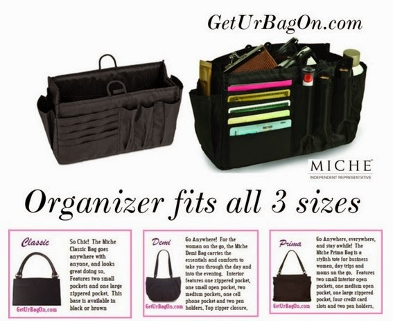 Get Ur Bag On Miche Bag Organizer for Classic Demi and Prima Bags