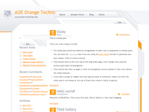 Download Tema WordPress Orange Techno