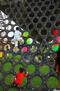 Idea para Reciclar Neumáticos, Juegos Infantiles