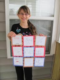 Story quilt book report