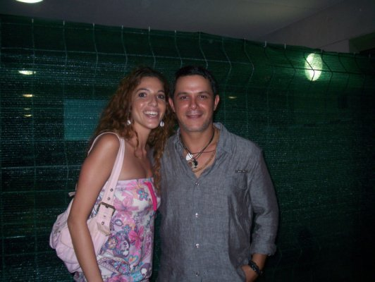 Alejandro Sanz backstage