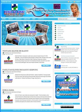 Contoh Desain Web Blog Profil Usaha Pany Profile Menoreh
