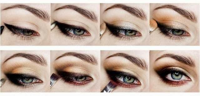 Disfruta cuidando de ti maquillaje de ojos sombras for Sombras de ojos para ojos marrones