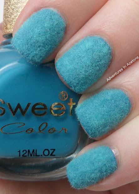 born pretty velvet manicure