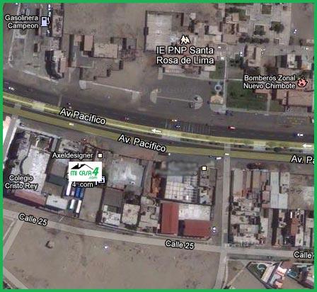 Ubicación de Mi Casa 4 Inmobiliaria de Chimbote
