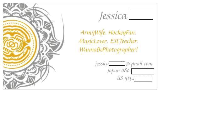 Bleu dress jes contact card do you have a personal business card what is on it im completely open to any suggestions you may have i keep debating on whether or not to put my blog colourmoves