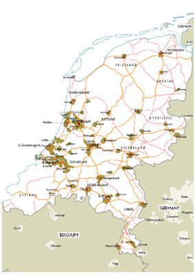 Road Map of Netherlands