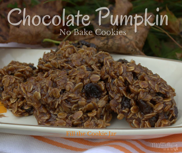 Fill the Cookie Jar with Chocolate Pumpkin No Bake Cookies / This and That