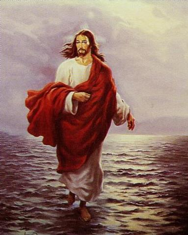 pictures of jesus walking on water. Jesus Walks On Water