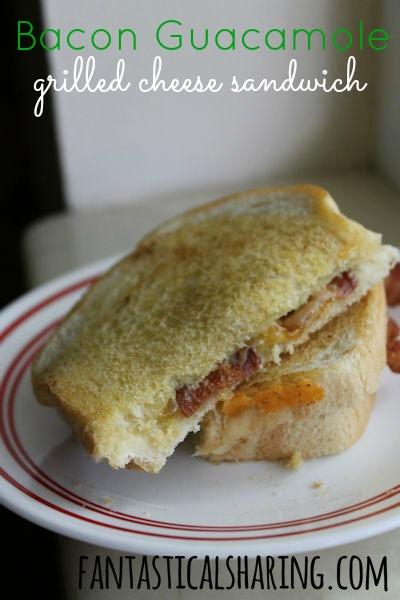 Bacon Guacamole Grilled Cheese Sandwich | Bacon, guacamole, cheddar ...