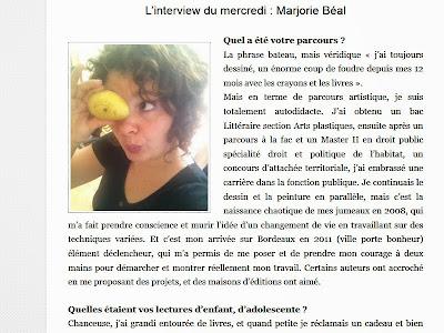 Marjorie Béal, invitée du mercredi sur La mare aux mots - Lire l'interview