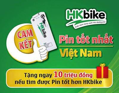 Cam kết khẳng định chất lượng pin vượt trội và duy nhất của HKbike trên thị trường Việt Nam.