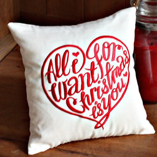 All I Want For Christmas Is You pillow | A unique christmas wedding proposal | Belinda Lee Designs