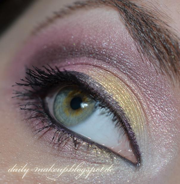 Daily Make Up Gold Rose Mit Kiko Water Eyeshadows