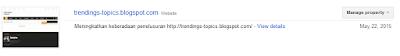 Cara mudah mendaftar di google webmaster