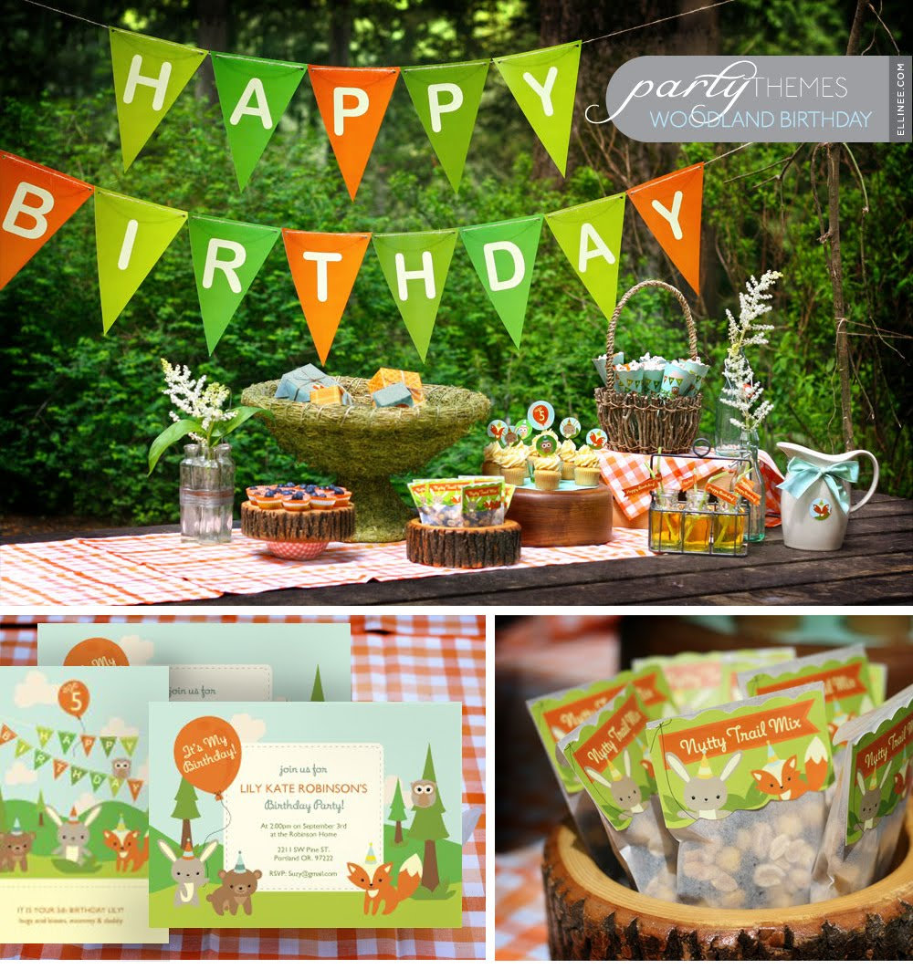 Home Confetti Merry Monday Woodland Party W Free Printables