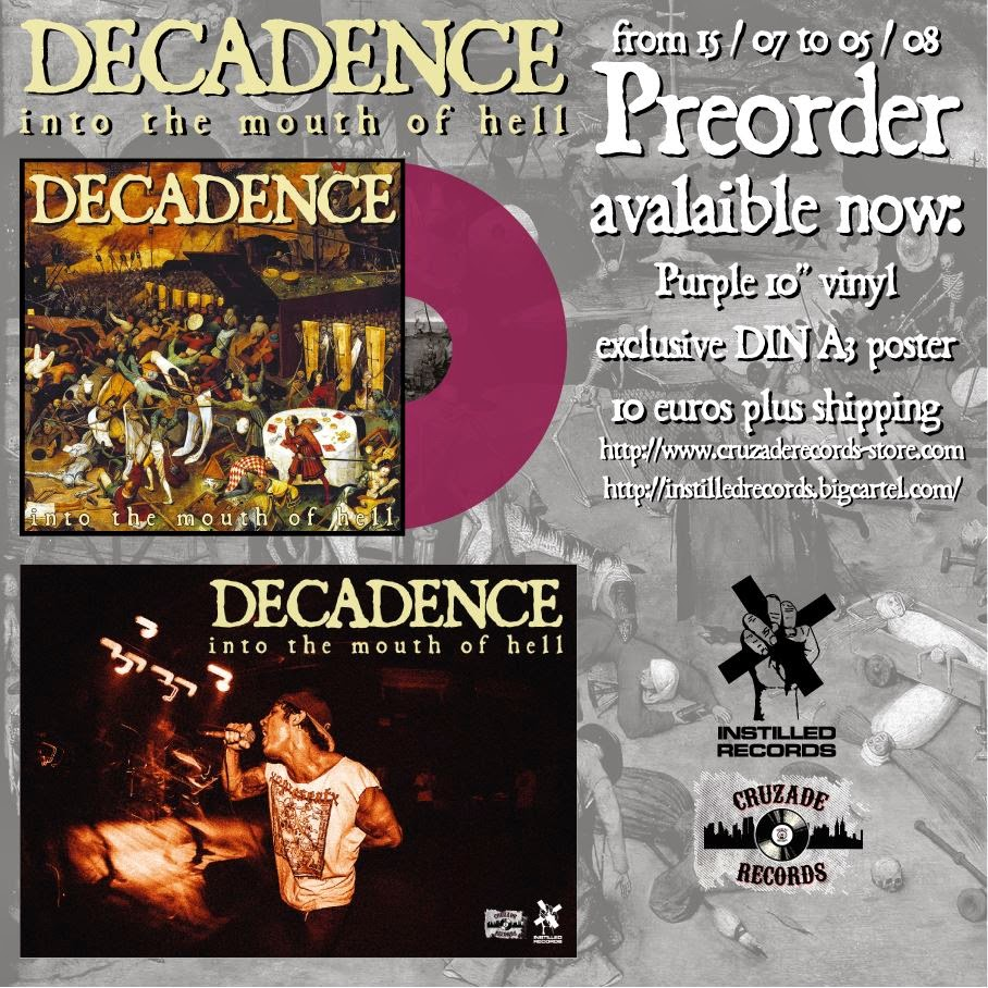 "DECADENCE - Into the mouth of hell - 10"" Preorder"