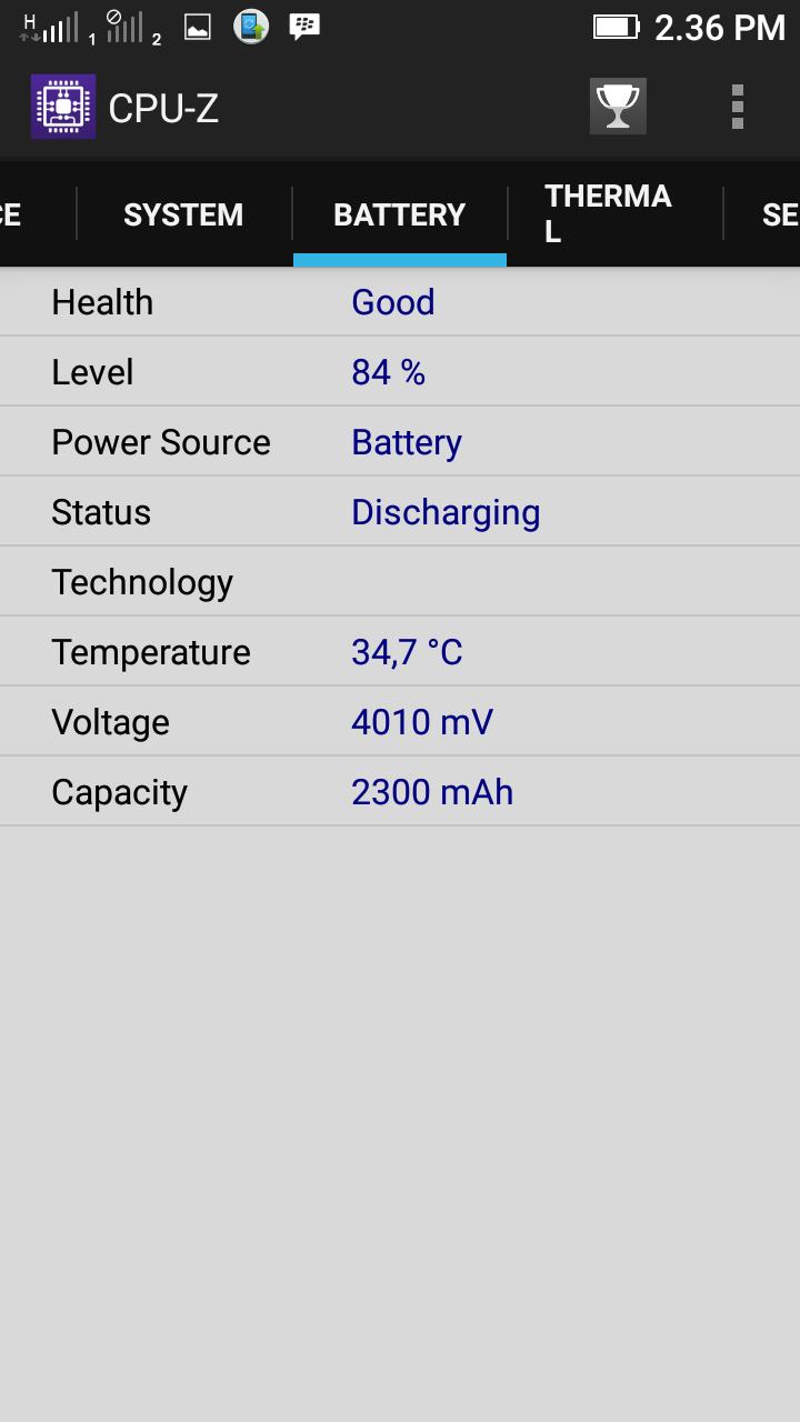 CPU-Z lenovo a6000 plus