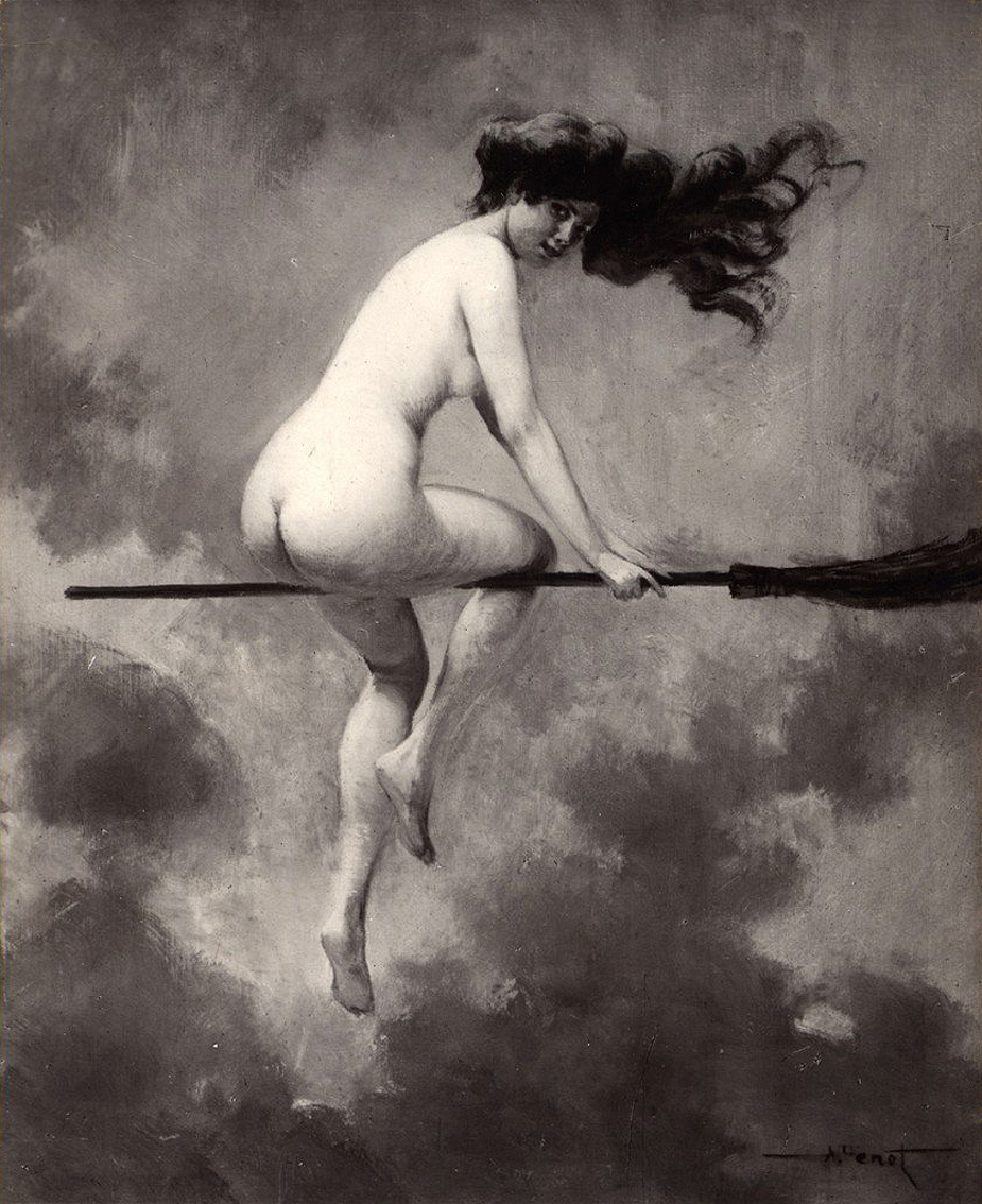 Nude Witch Broom
