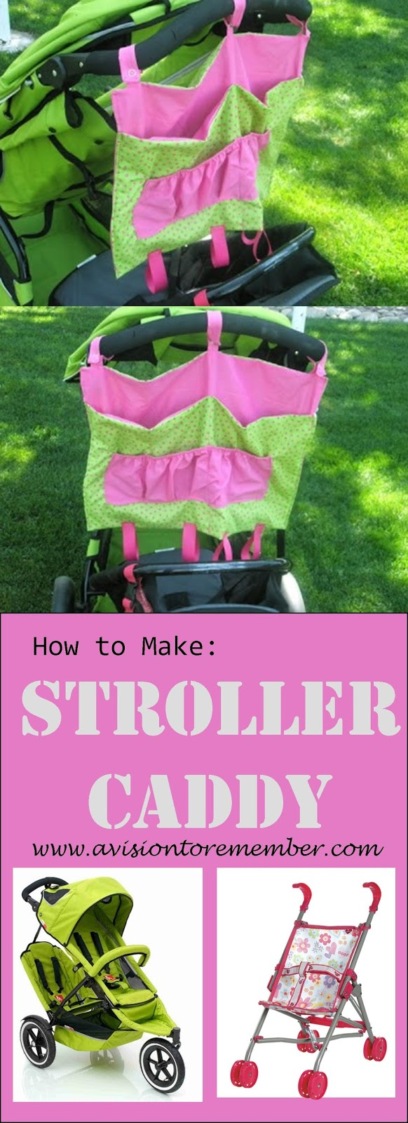How to Make a Stroller Caddy by A Vision to Remember